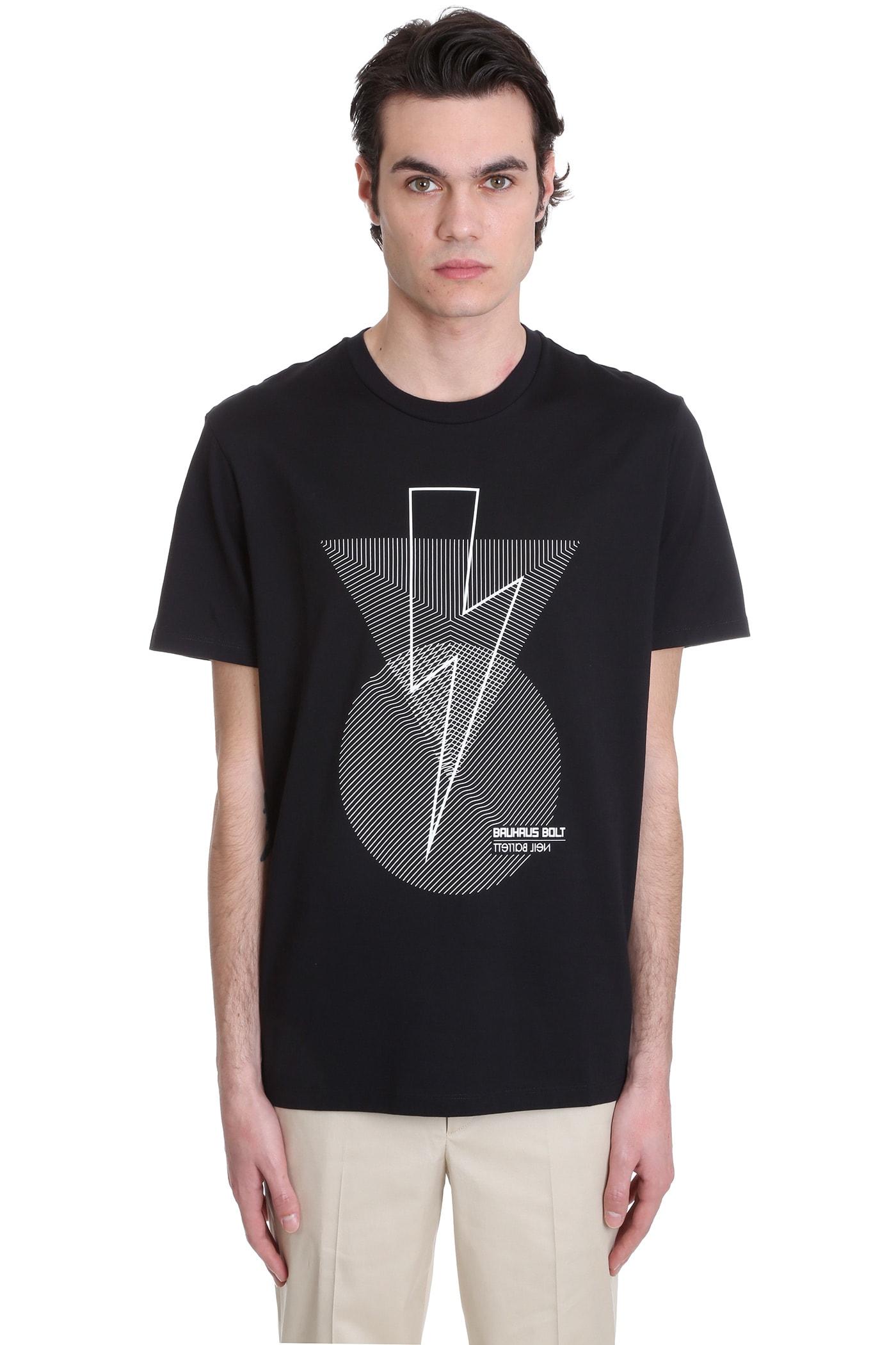 T-shirt In Black Cotton