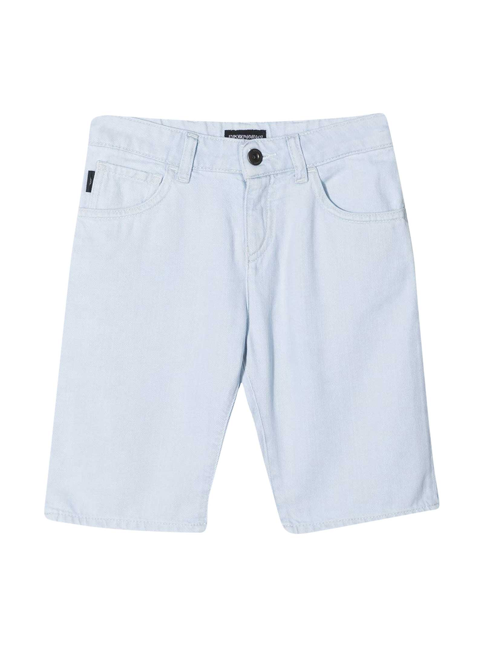 Emporio Armani Light Denim Shorts