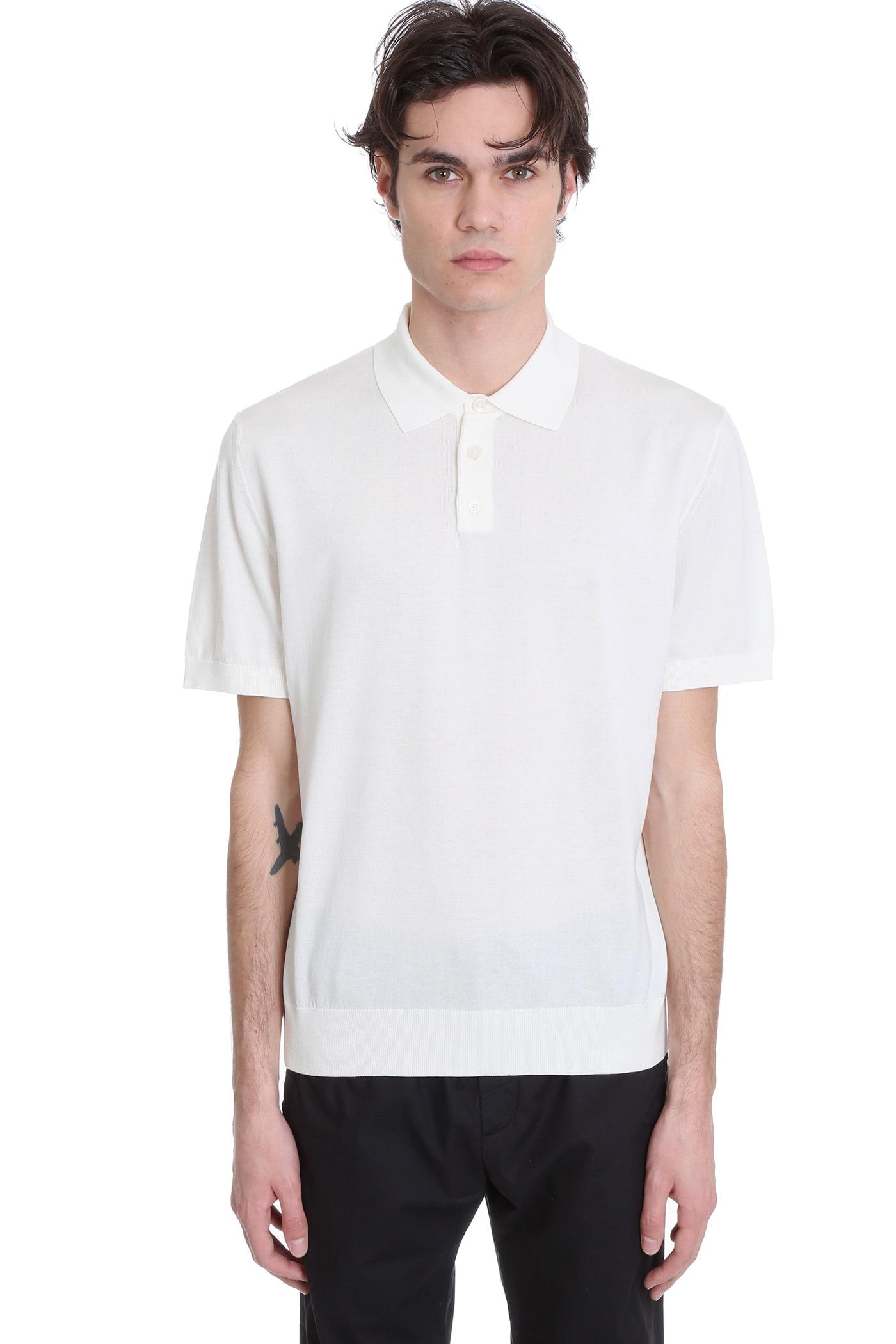 Z Zegna Polo In White Cotton