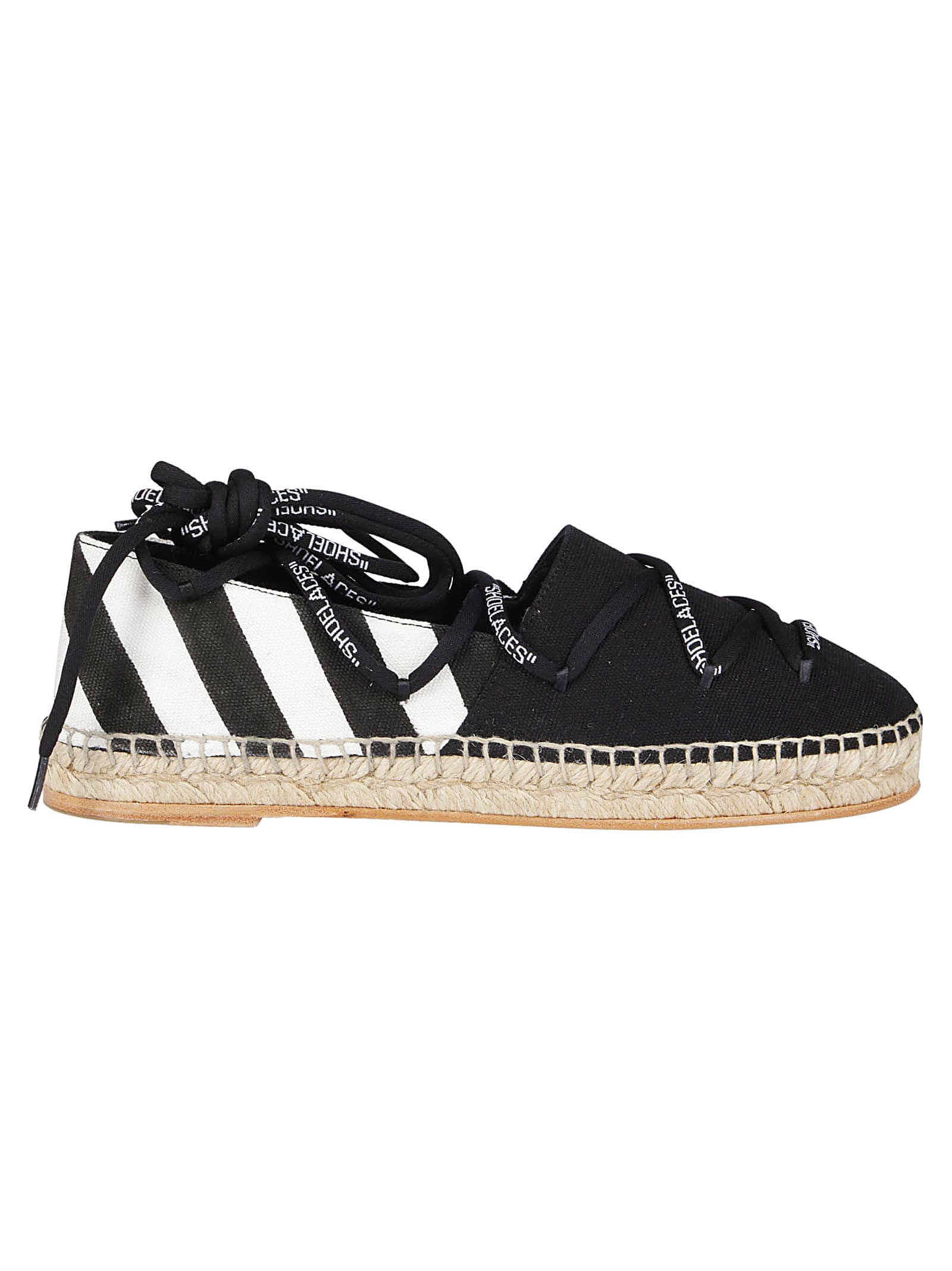 Off-White Lace Up Espadrilles