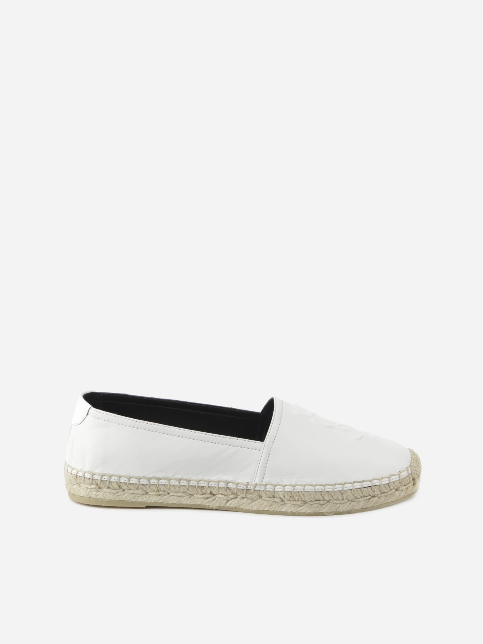 Saint Laurent Monogram Espadrilles Made Of Leather