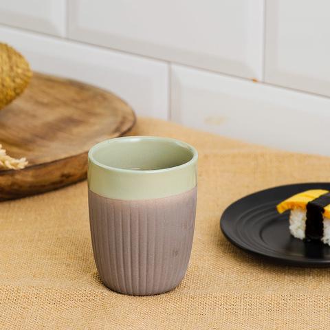 直紋綠意瓷泥茶杯250CC