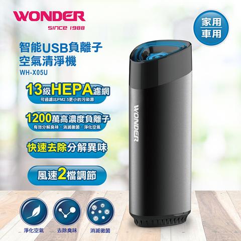 WONDER 智能USB負離子空氣清淨機WH-X05U