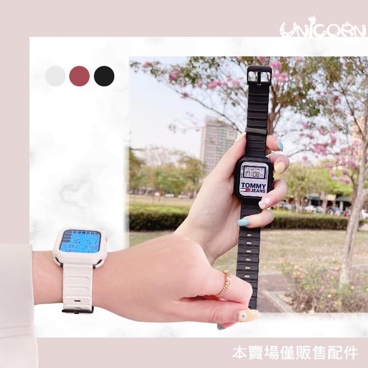 -三色-Apple Watch 潮流街頭TPU錶框錶帶 錶殼 Series 1~6/SE代專用 iWatch 替換錶帶【WB1100311】Unicorn
