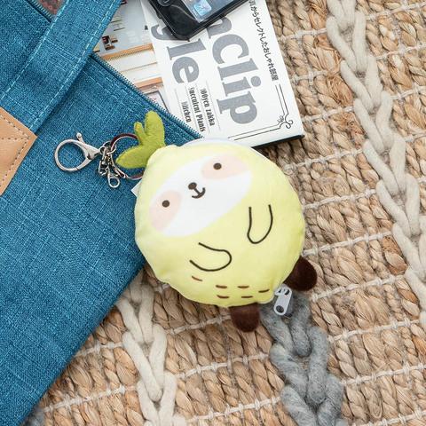 動物果友會-檬檬懶零錢包吊飾