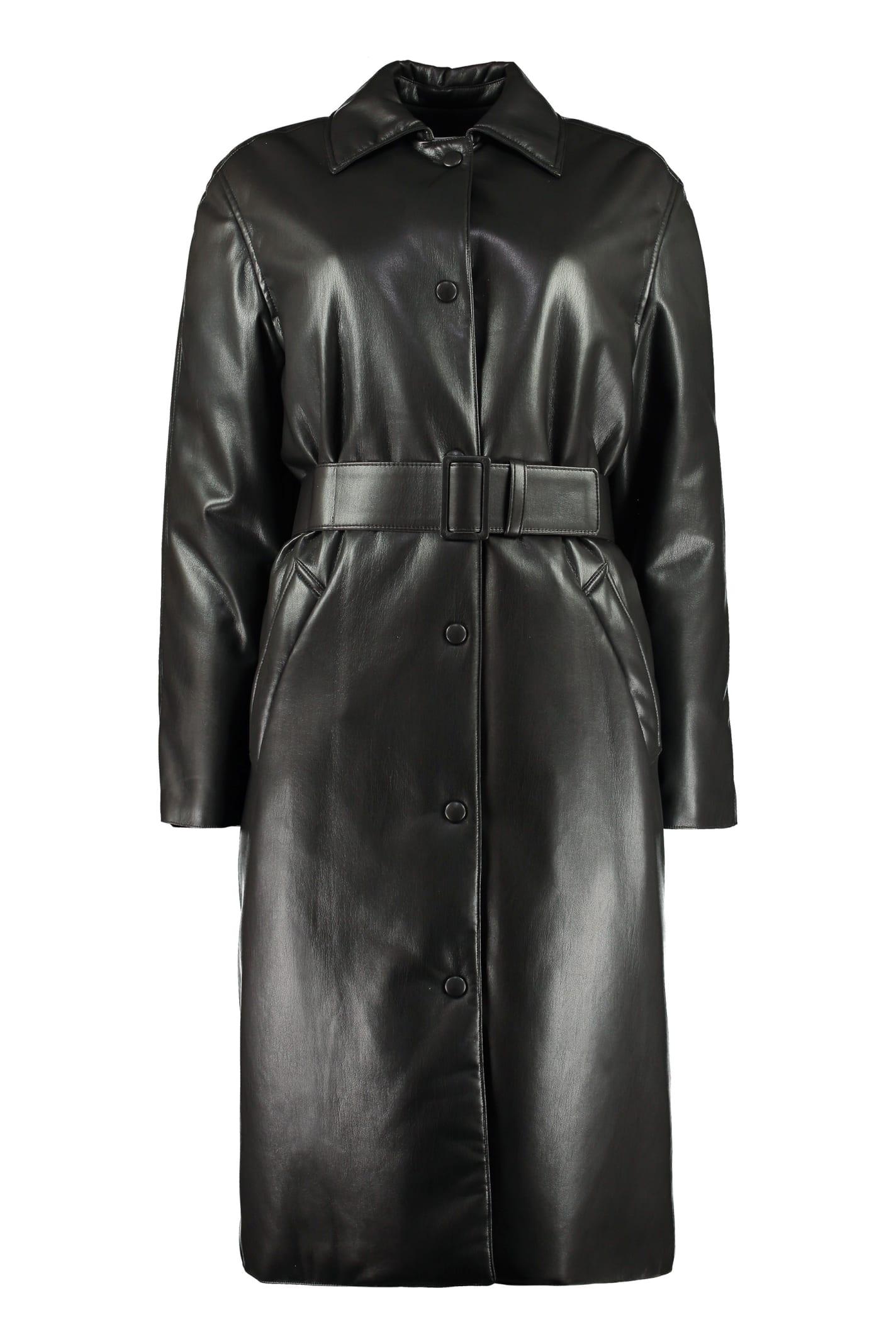 MSGM Faux Leather Fabric Coat