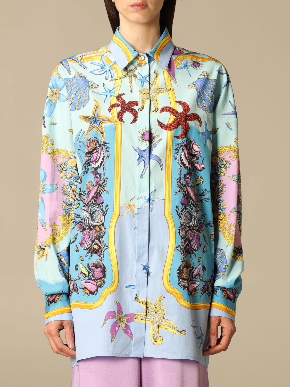 Versace Shirt Versace Shirt In Trésor De La Mer Patterned Cotton