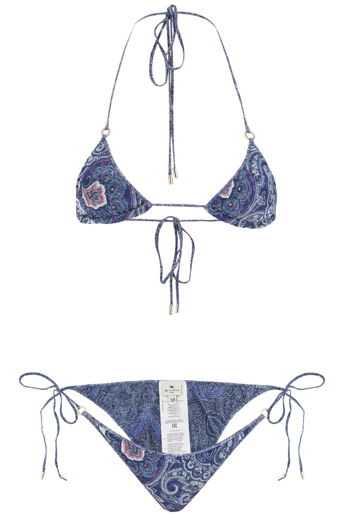 Etro Ischia Paisley-print Bikini