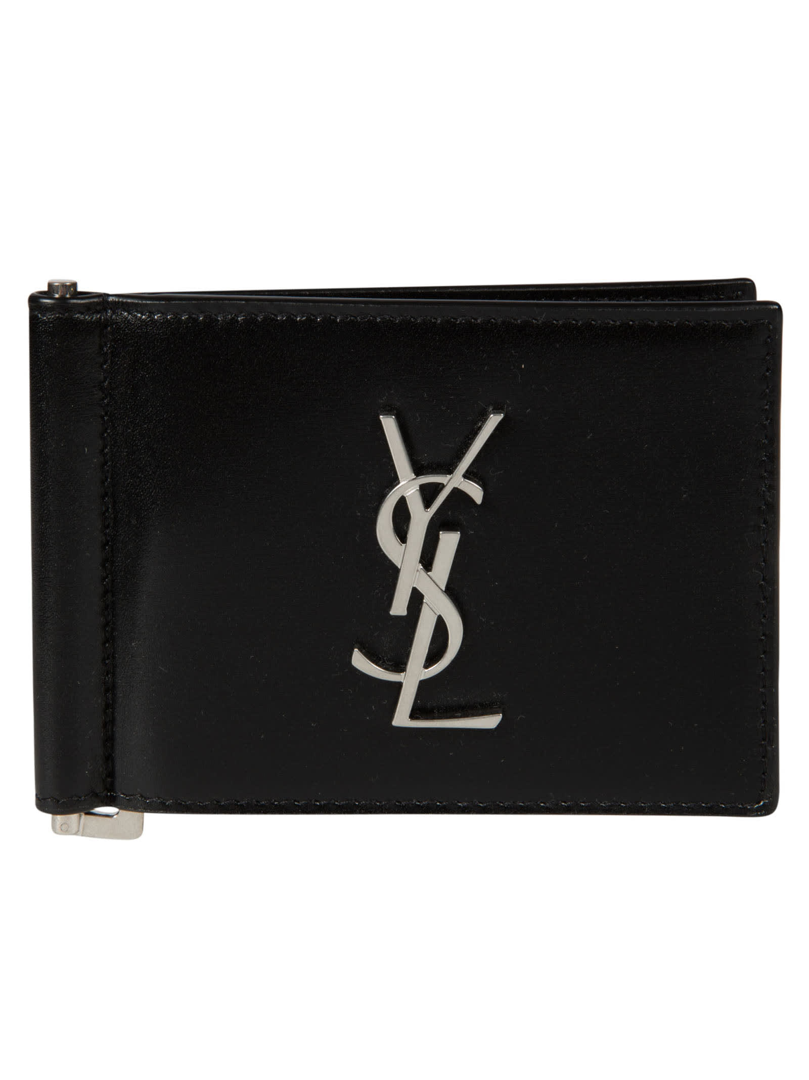 Saint Laurent Logo Plaque Bifold Wallet