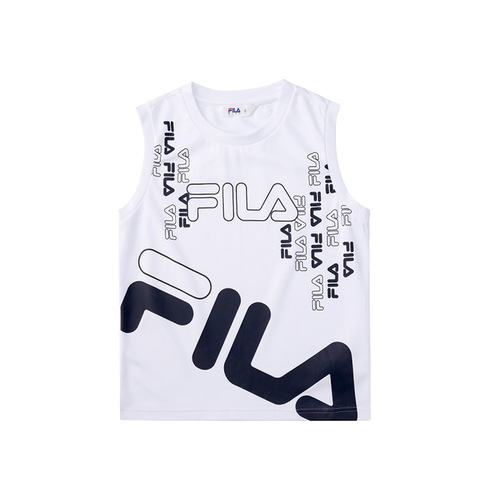 FILA KIDS 吸排背心-白色 1TKV-4419-WT