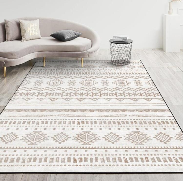 夯貨折扣! 摩洛哥北歐簡約地毯客廳現代沙發茶幾地墊房間臥室床邊毯滿鋪家用 町目家