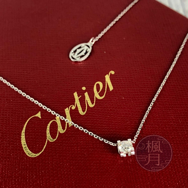 BRAND楓月 Cartier 卡地亞 BSP366 0.31CT C DE 鑽石項鍊2.6g  白K金 K18
