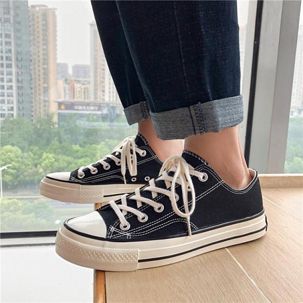 帆布鞋男韓版休閒板鞋百搭潮鞋透氣學生布鞋夏季小白鞋情侶鞋子男 韓國時尚週
