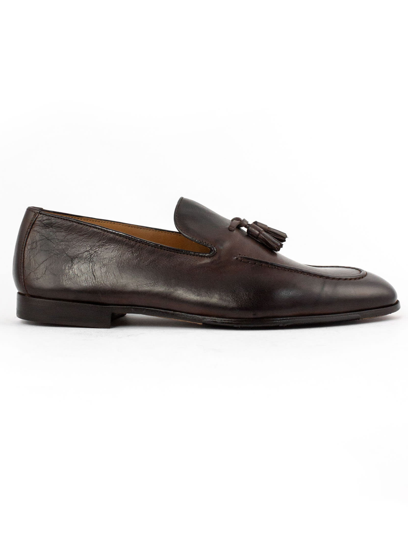 Doucals Brown Smooth Leather Loafer