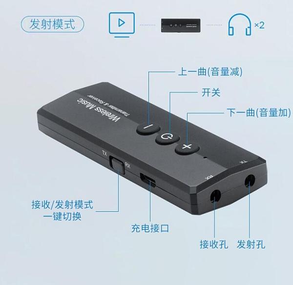 電腦手機藍芽5.0適配器臺式筆記本平板發射接收器AUX無損無線音頻轉 3C優購