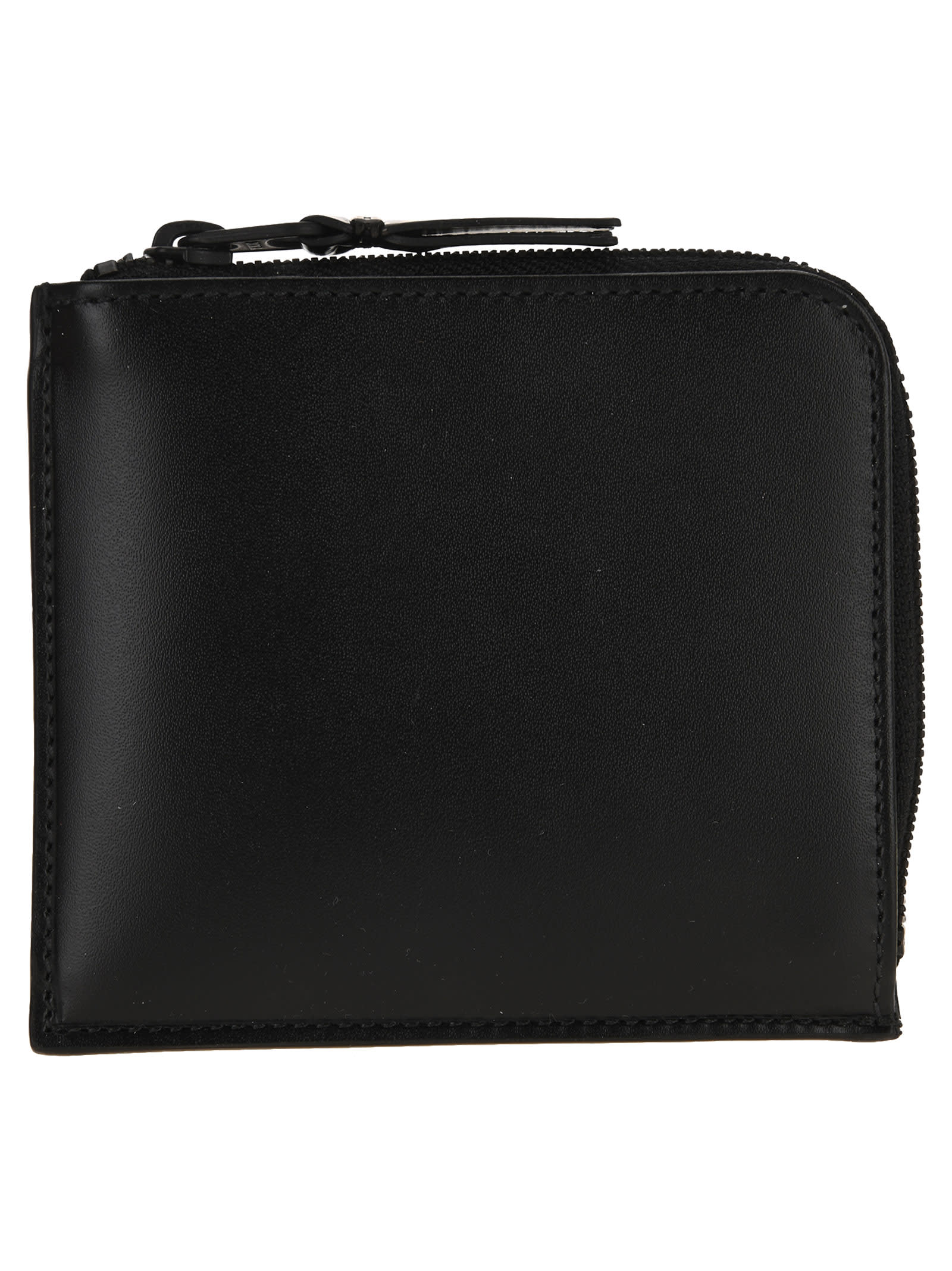 Comme Des Garcons Wallet Black Small Zip Wallet