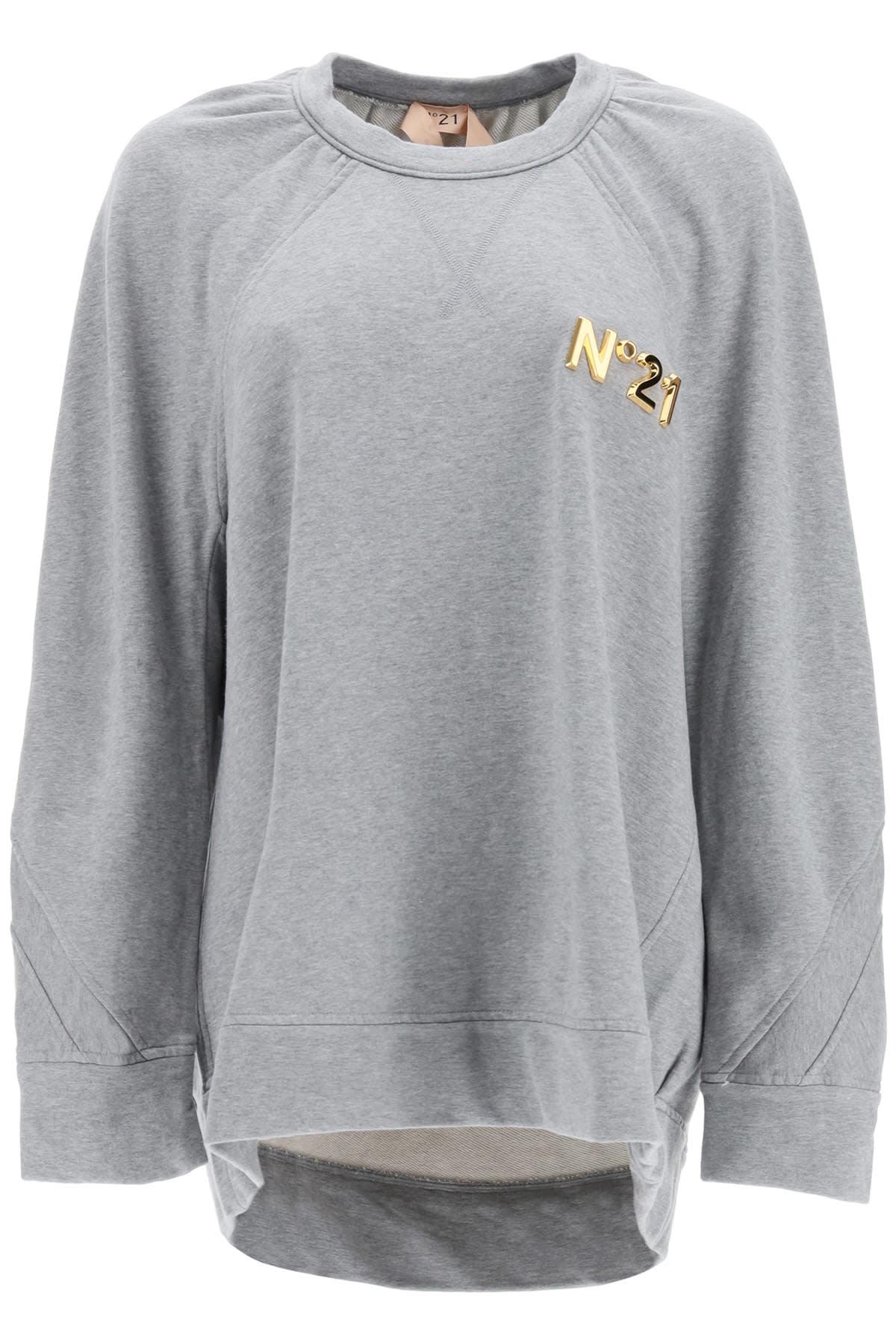 N.21 Over Sweatshirt With Golden Logo