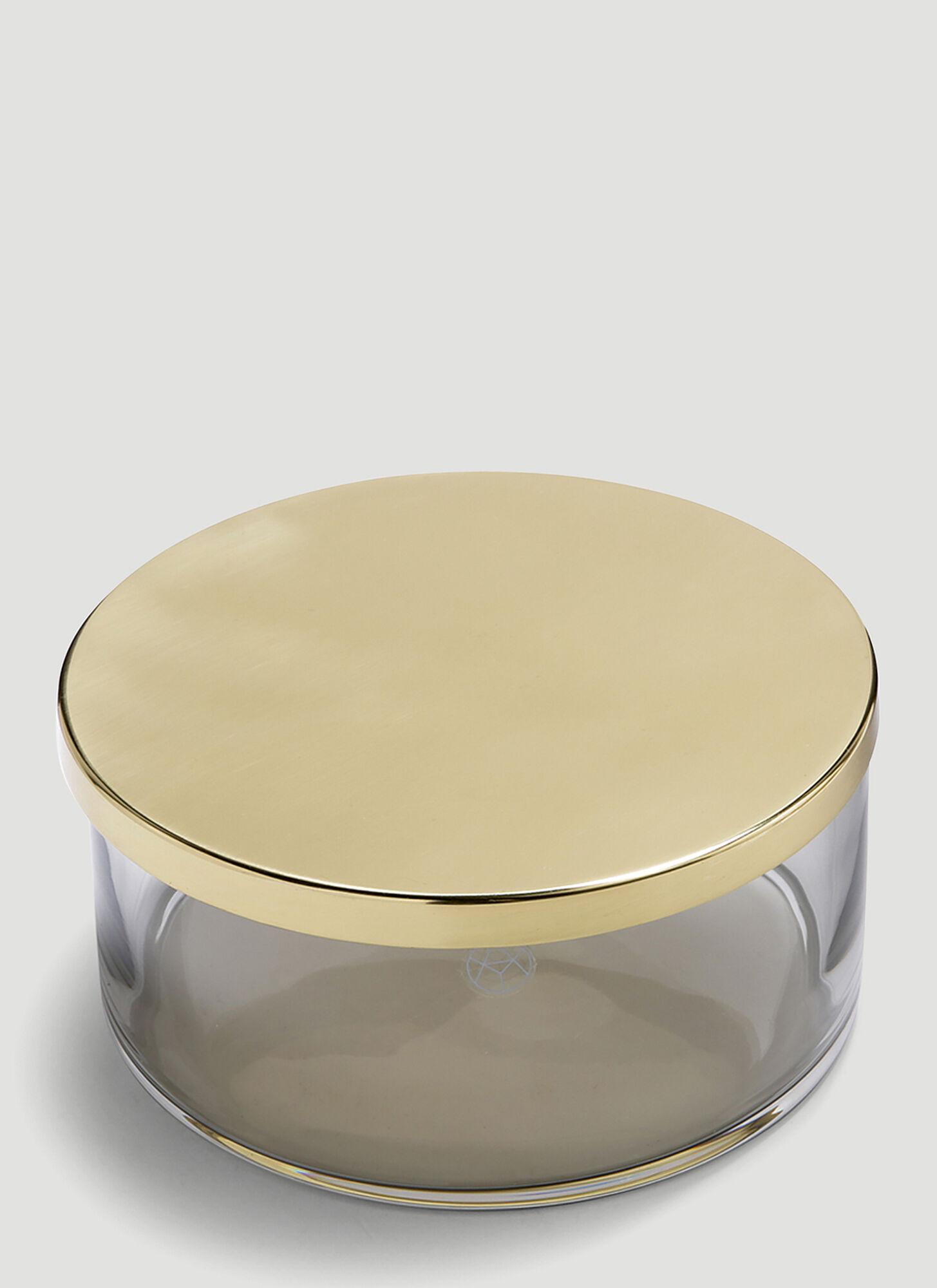 unisex Black Glass, Brass.