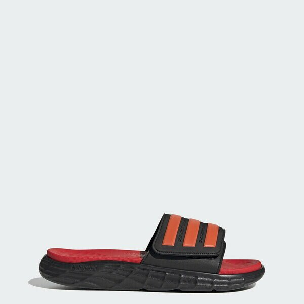 Adidas Duramo Sl Slide 拖鞋-03 [FY8787] 男女鞋 輕量 游泳 海灘 舒適 黑 紅