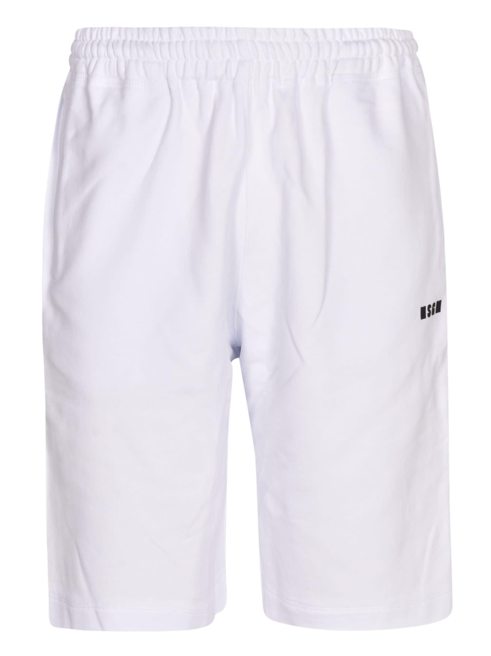 MSGM Ribbed Waist Logo Shorts