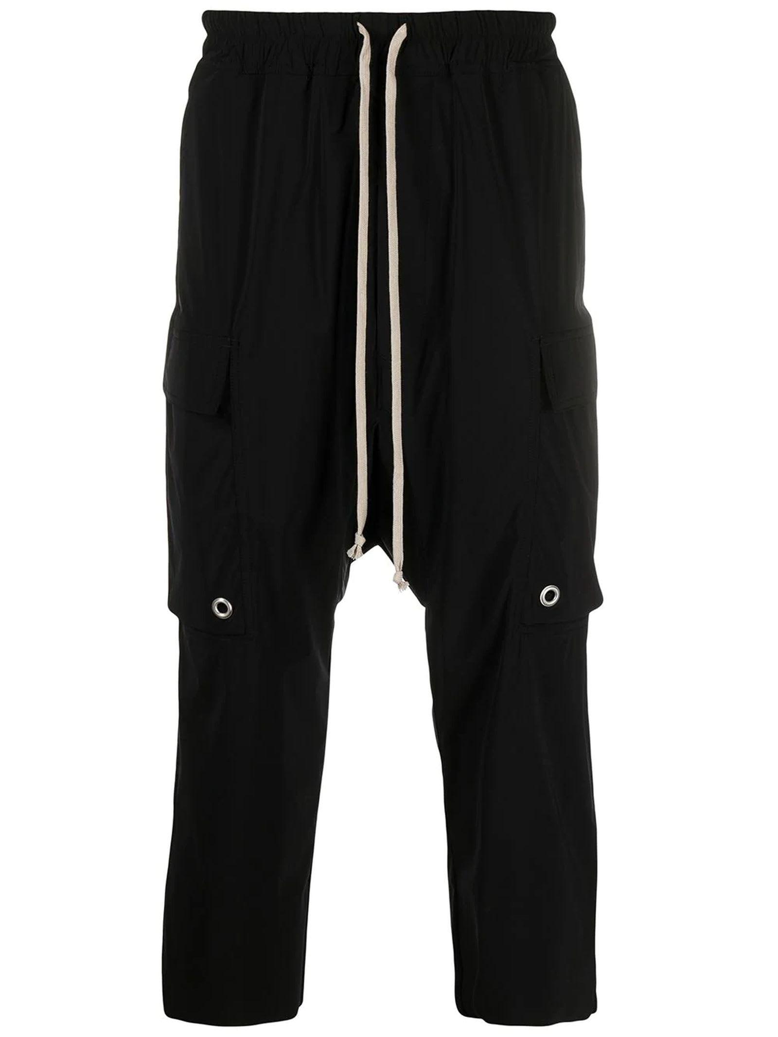 Rick Owens Black Drop-crotch Trousers