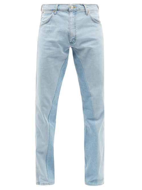 Bianca Saunders - X Wrangler Replay Twisted Jeans - Mens - Blue
