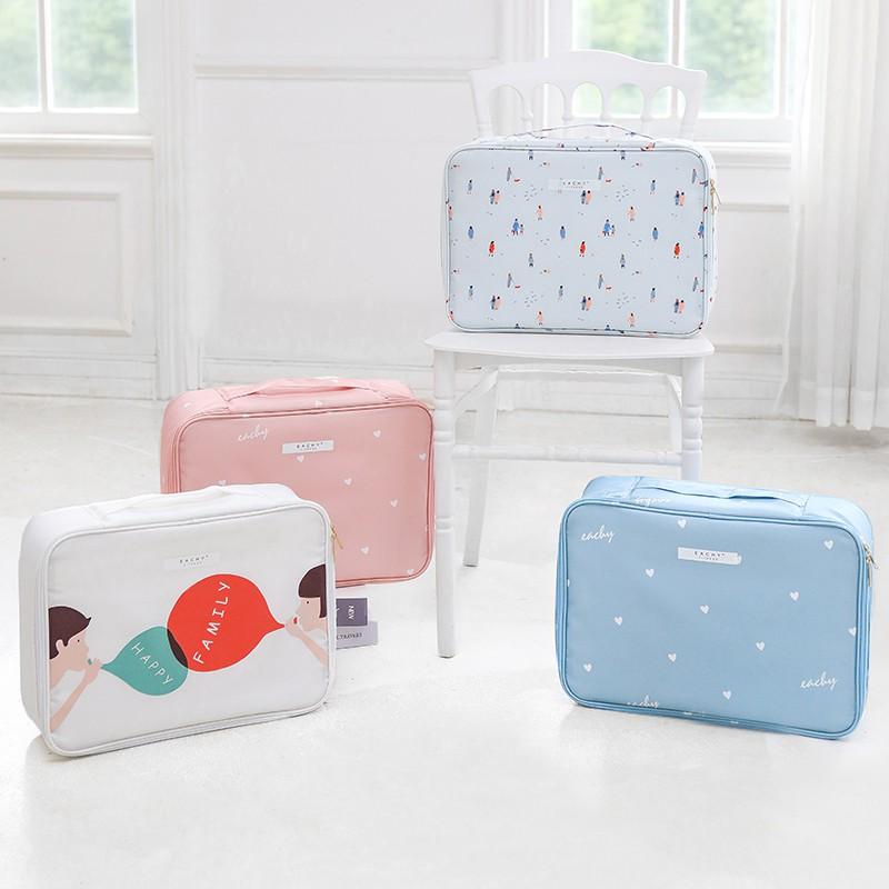 證件收納包盒大容量家庭文件家用便攜多功能箱小證書護照卡包整理