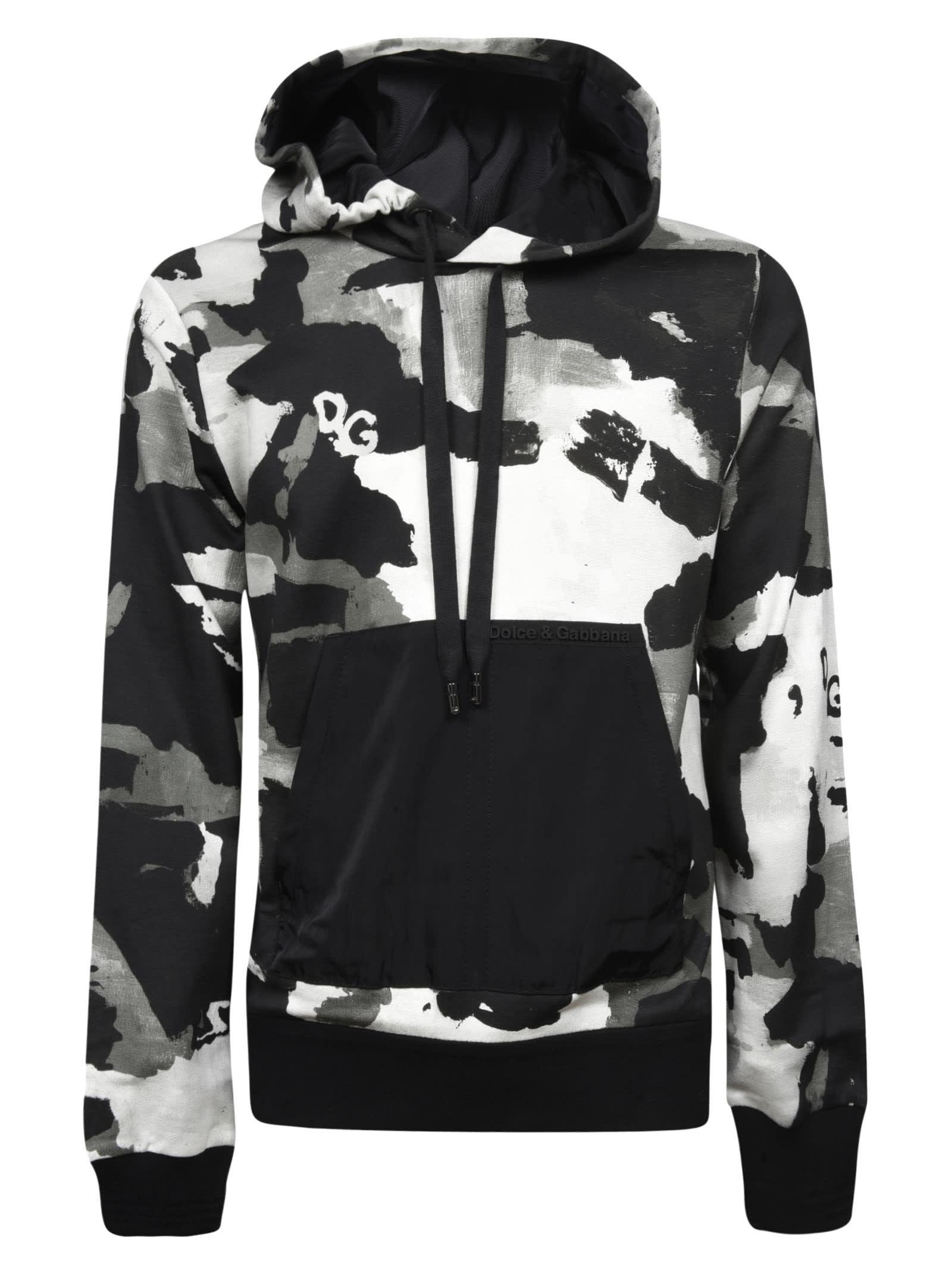 Dolce & Gabbana Camouflage Logo Hoodie