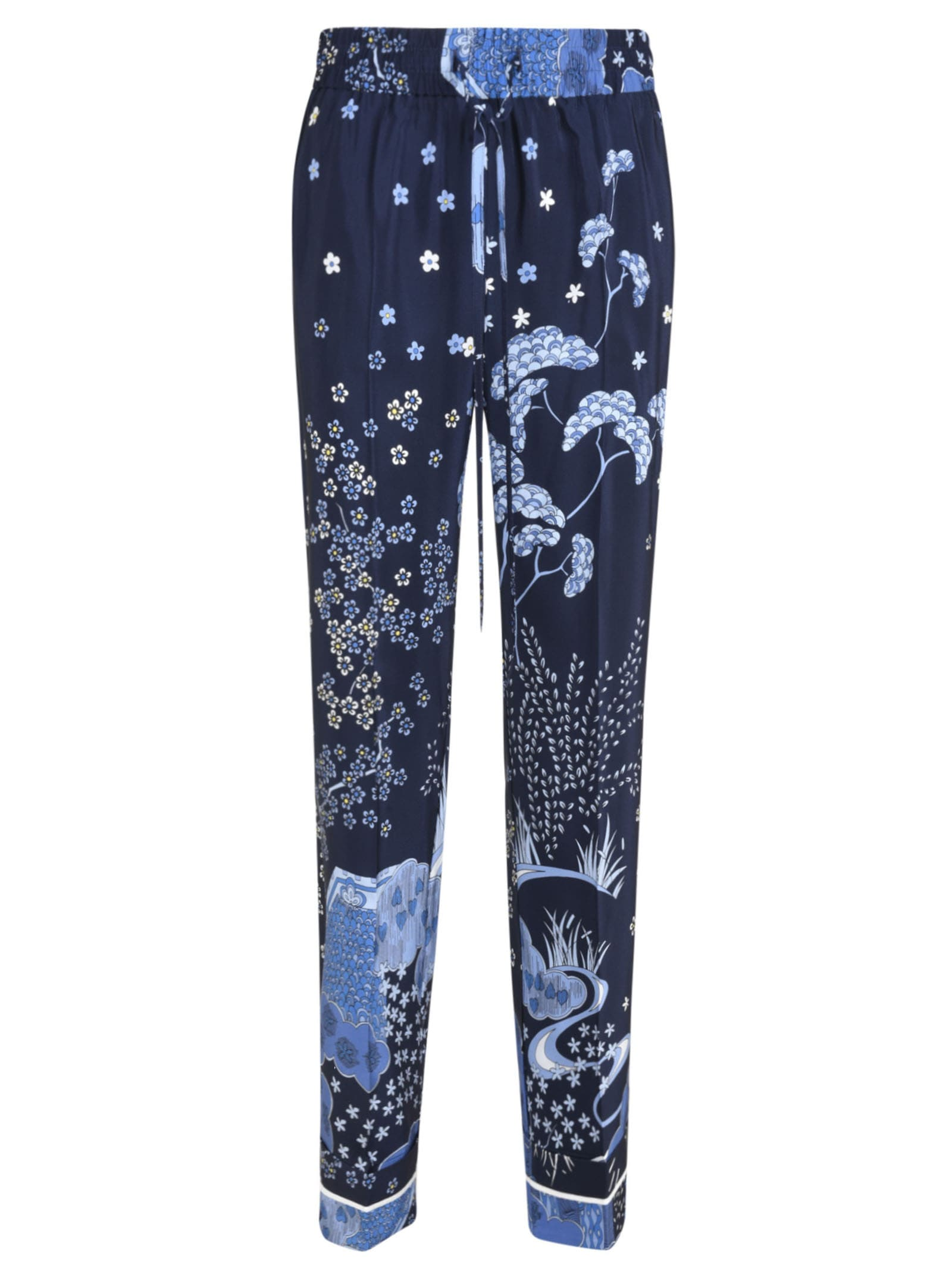 RED Valentino Floral Printed Trousers