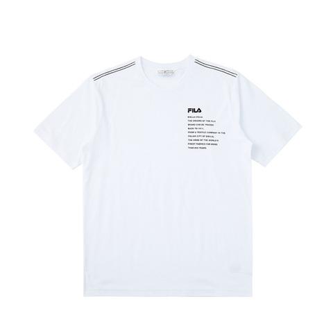 FILA 短袖圓領T恤-白色 1TEV-1459-WT