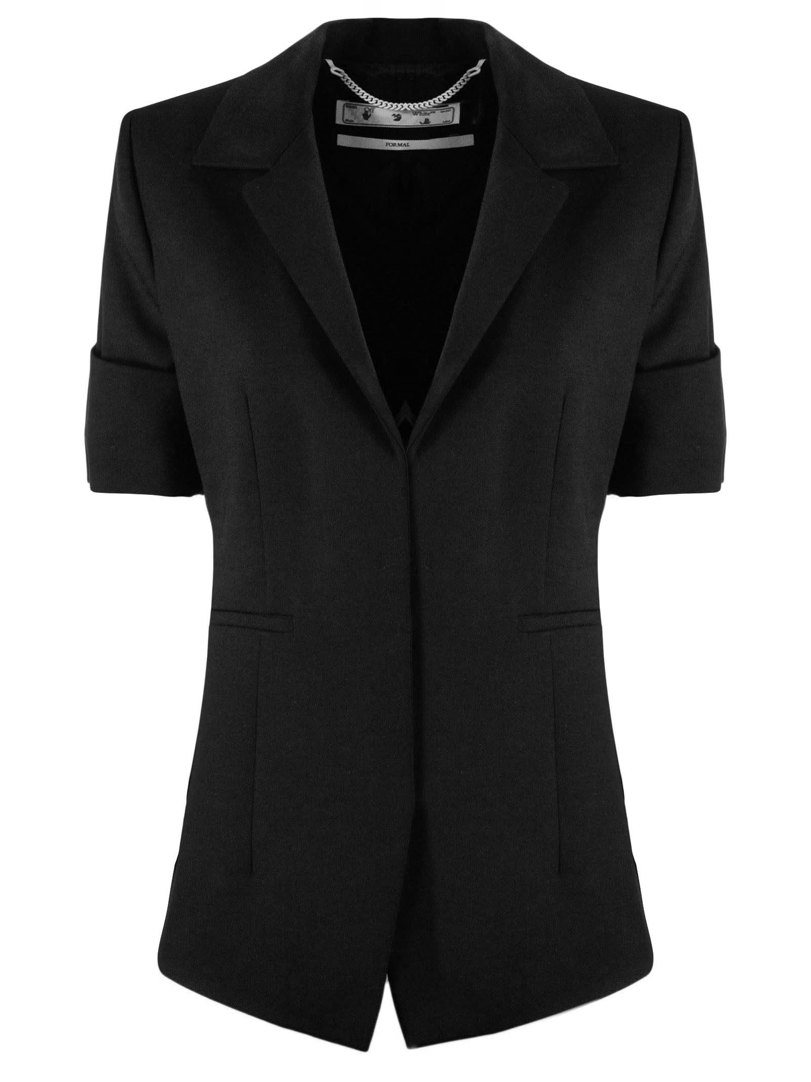 Off-White Black Virgin Wool Sailor Jacket
