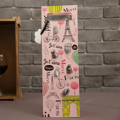 Gift concept貓咪禮盒提袋(酒杯標誌)