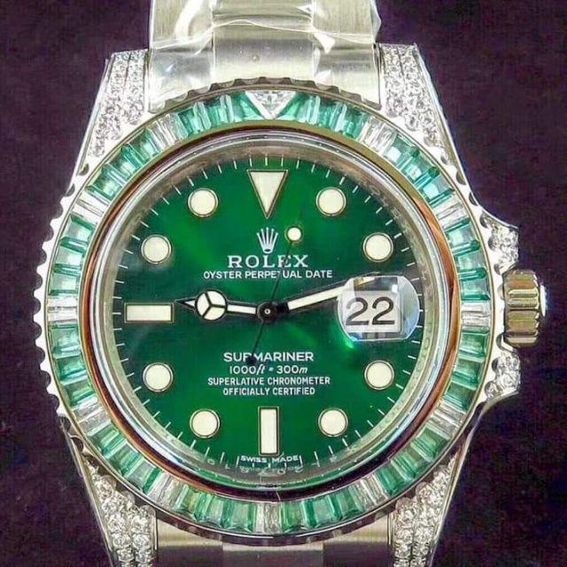 代購 錶鍠 勞力士ROLEX帝皇版神級歐美加鑽綠鬼(綠幽靈)震撼來襲。