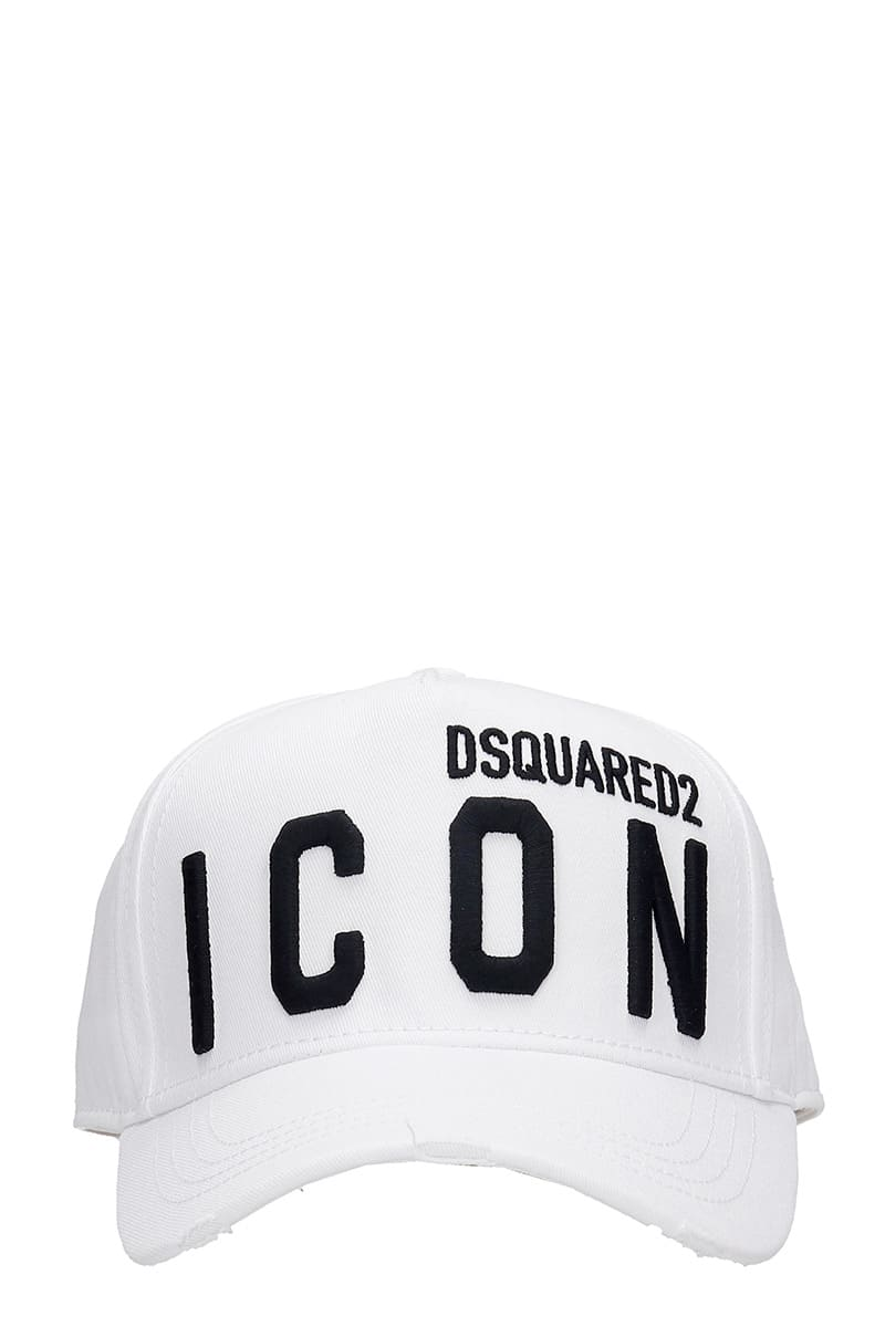 Icon Hats In White Cotton