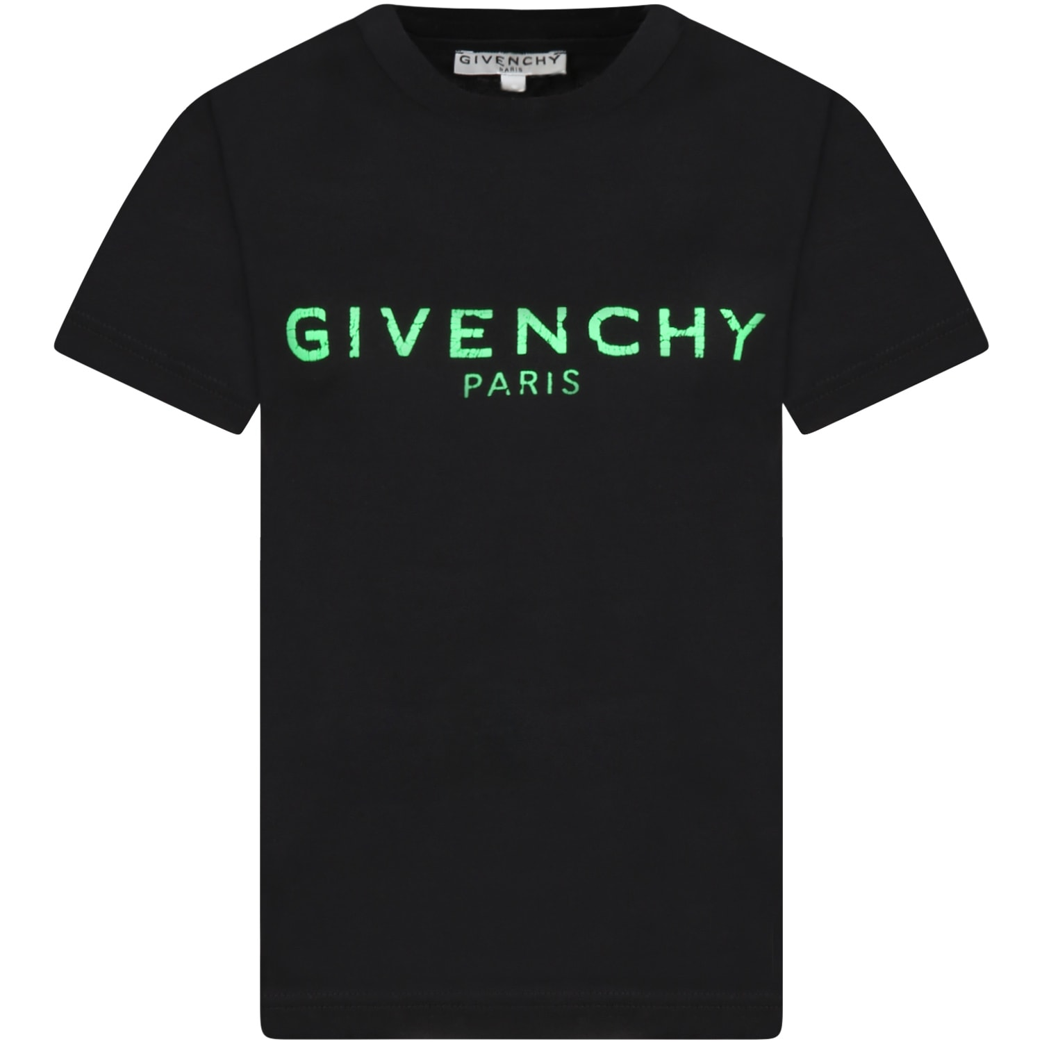 Givenchy Black T-shirt For Kids With Logo
