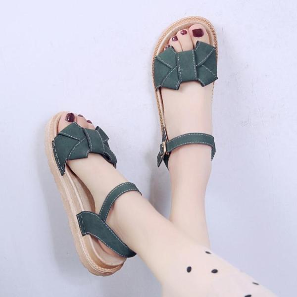 厚底涼鞋 涼鞋女士2021年夏季新款厚底學生仙女風百搭時裝溫柔平底鞋ins潮 童趣屋 618狂歡