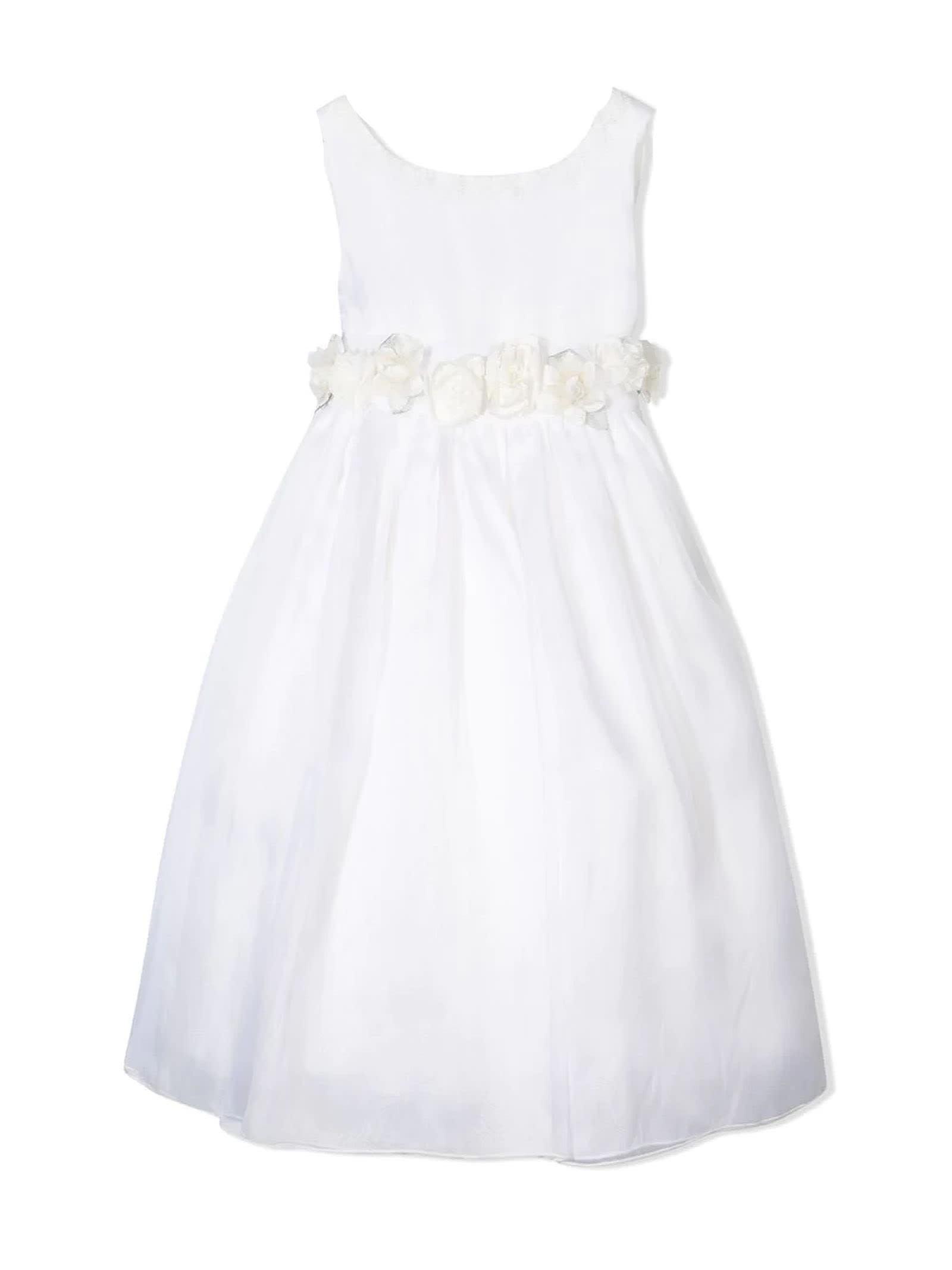 La stupenderia White Silk Dress
