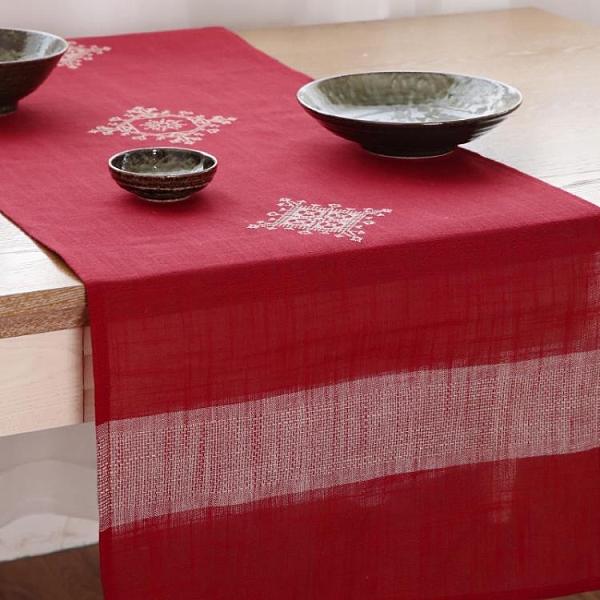 桌旗電視柜簡約現代中式長條桌布古典喜慶茶巾蓋巾【聚寶屋】