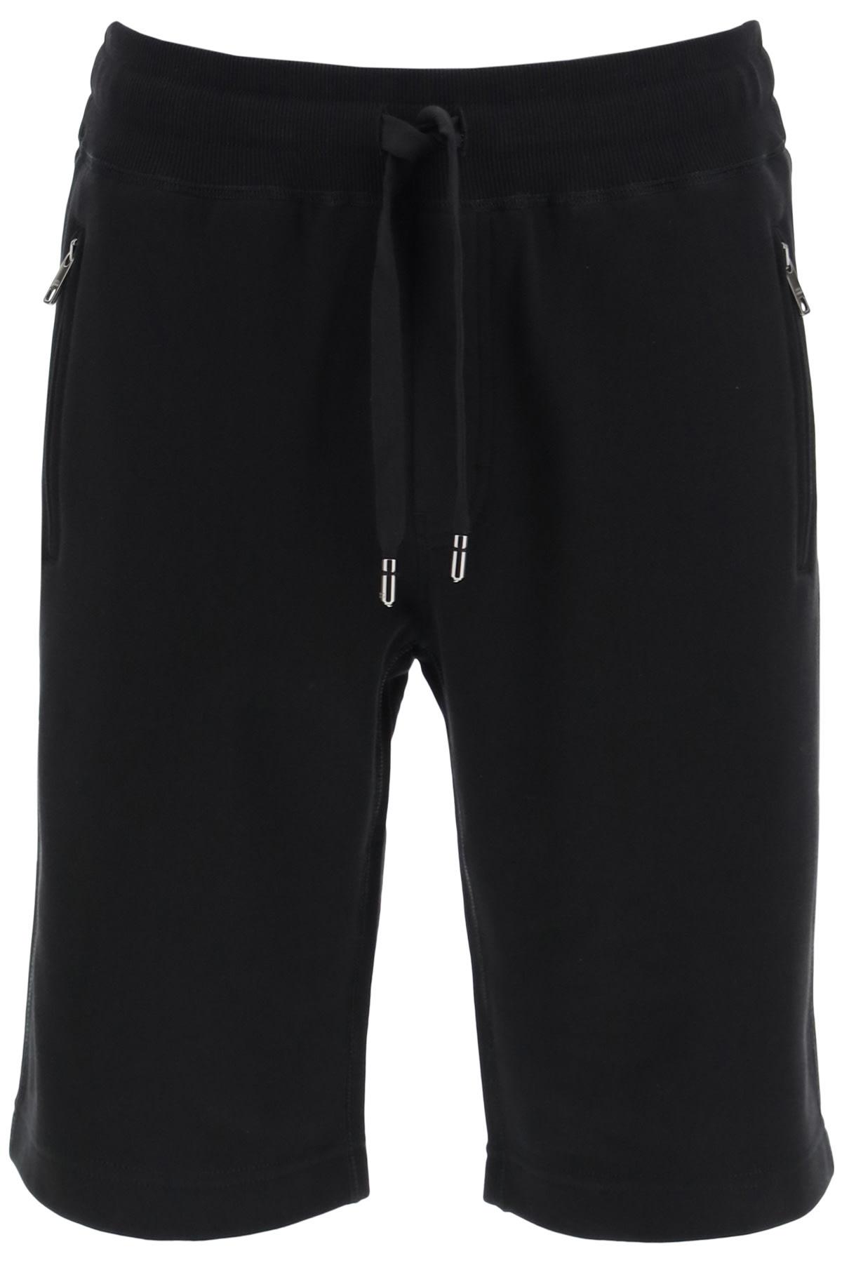 Bermuda Shorts With Logo Plaque