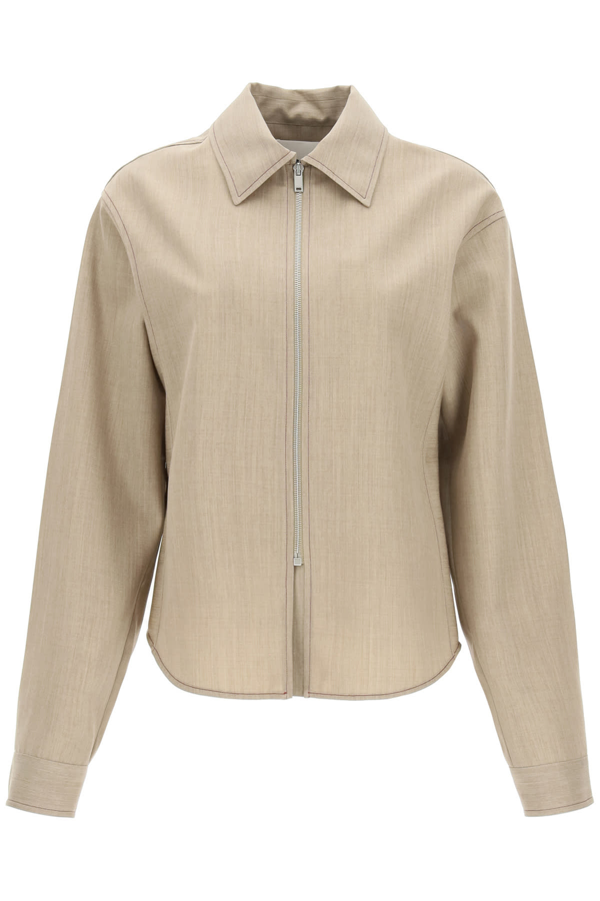 Jil Sander Wool Shirt With Zip