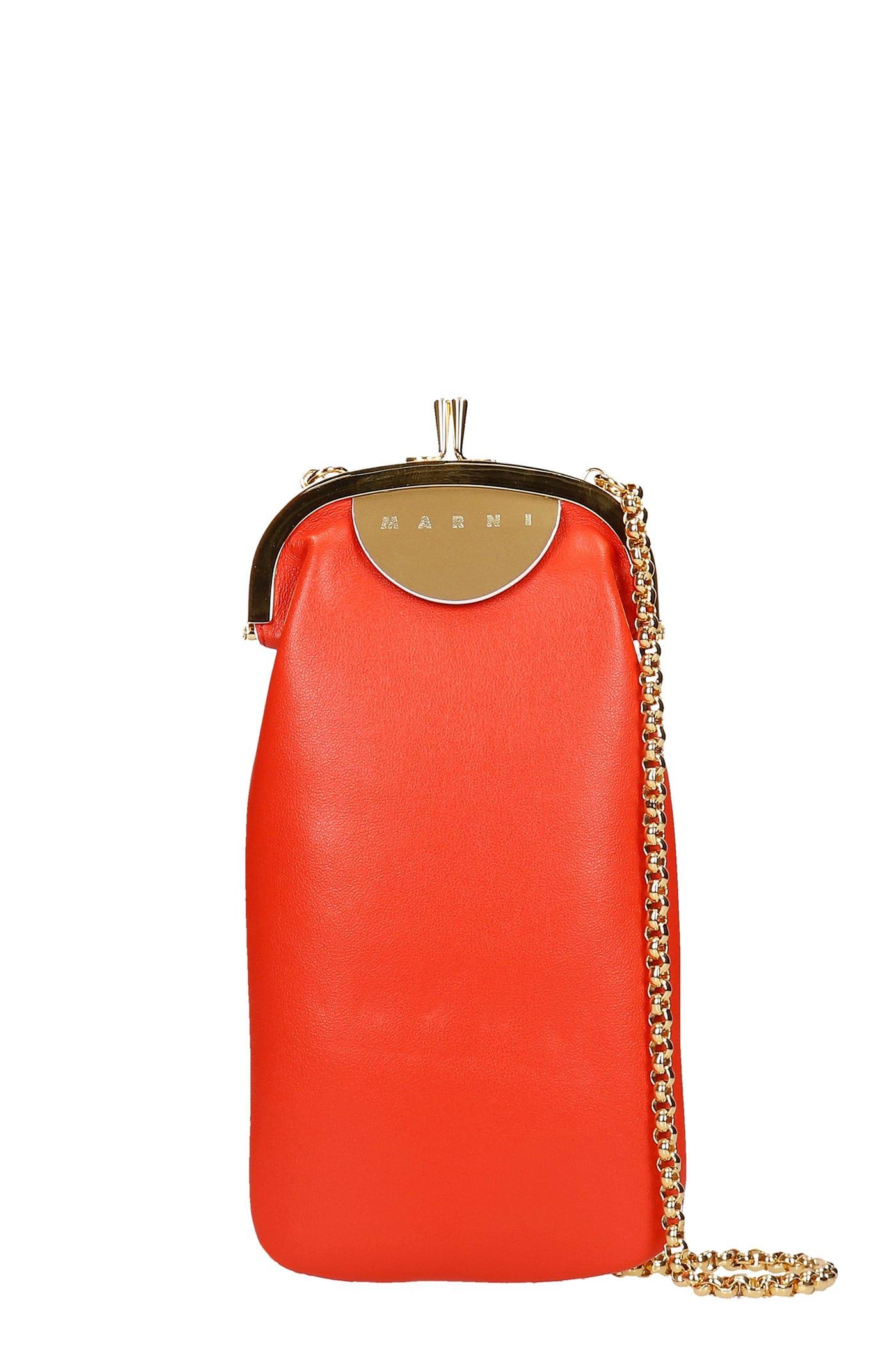 Marni Shoulder Bag In Red Leather