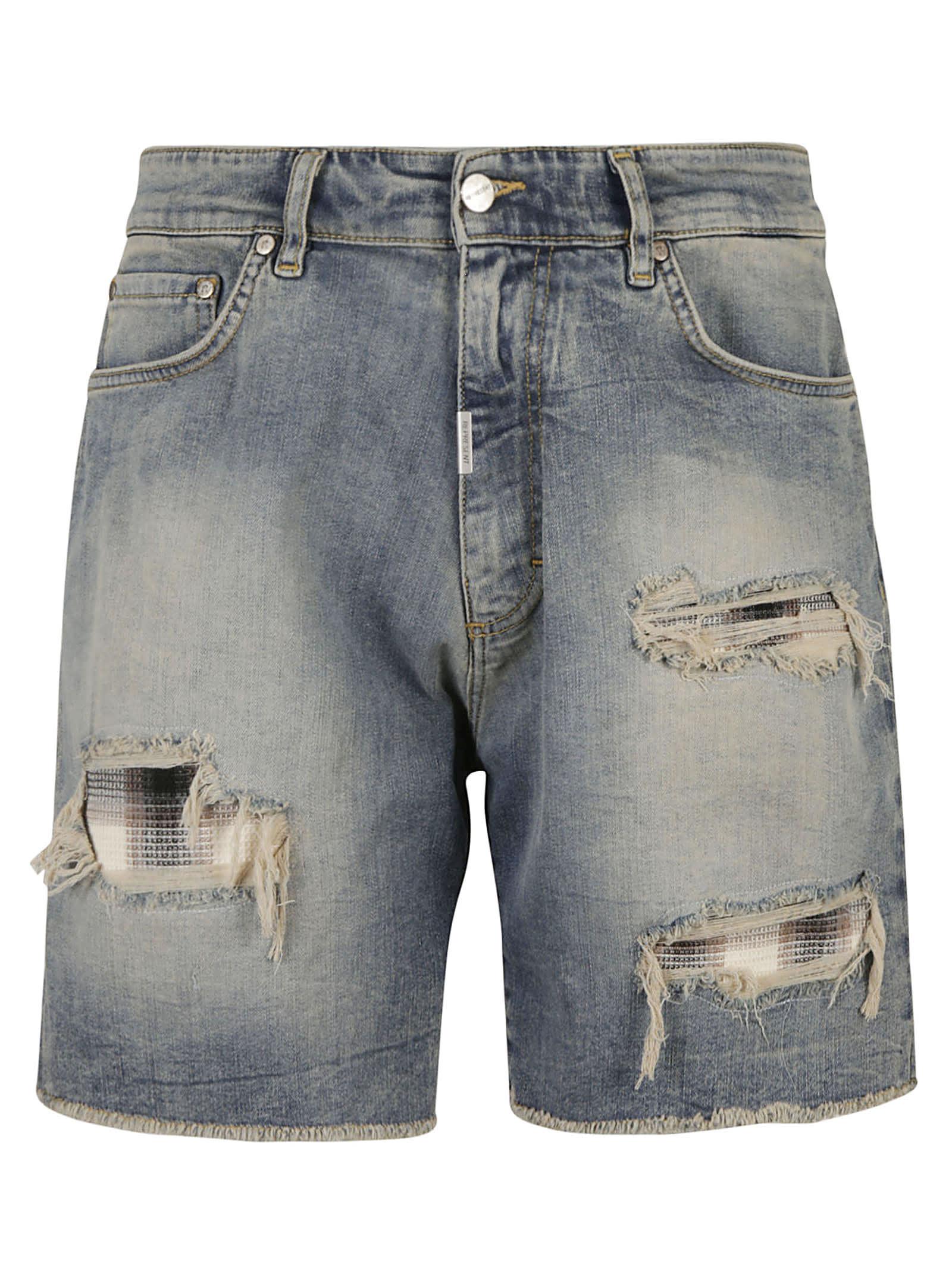 REPRESENT Underwork Denim Shorts