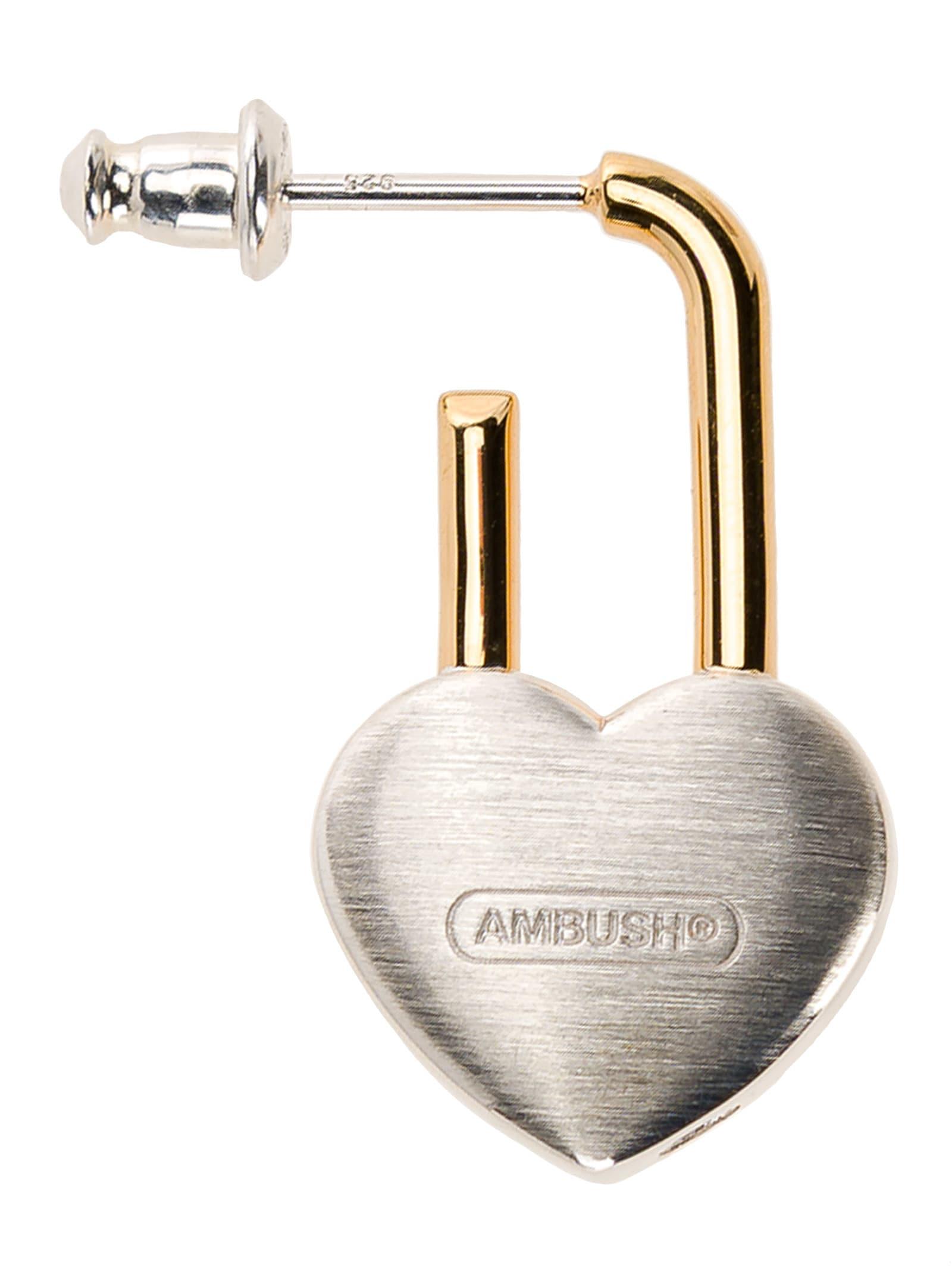 Ambush Heart Padlock Earring