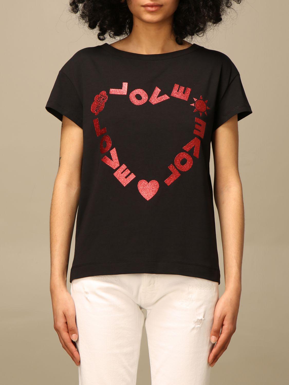Love Moschino T-shirt Love Moschino T-shirt With Glitter Heart