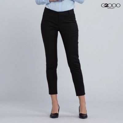 G2000時尚素面休閒一般單褲-黑色