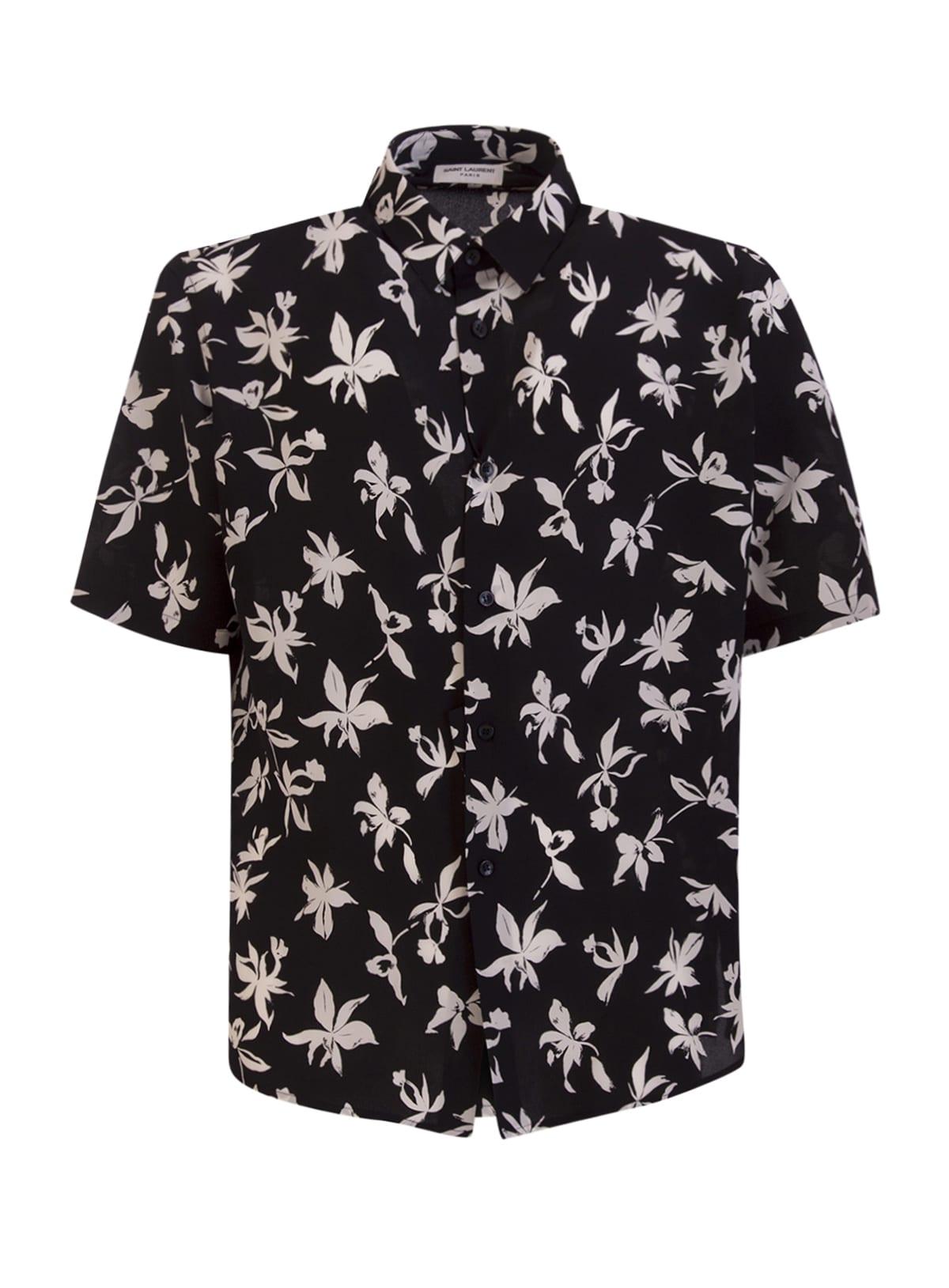 Saint Laurent Shirt In Silk De Crepe De Chine