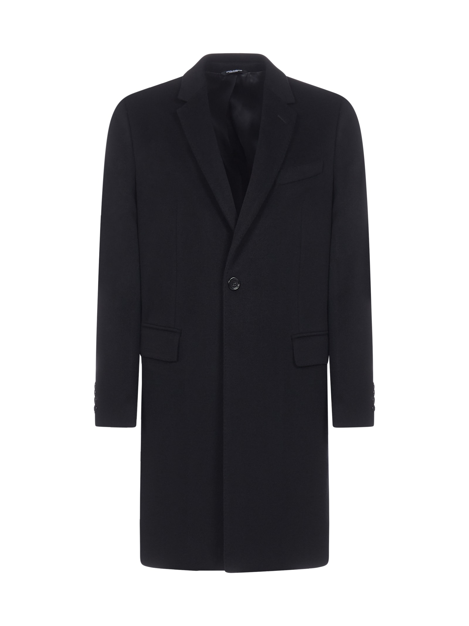 Dolce & Gabbana Wool And Cashmere Tailored Coat