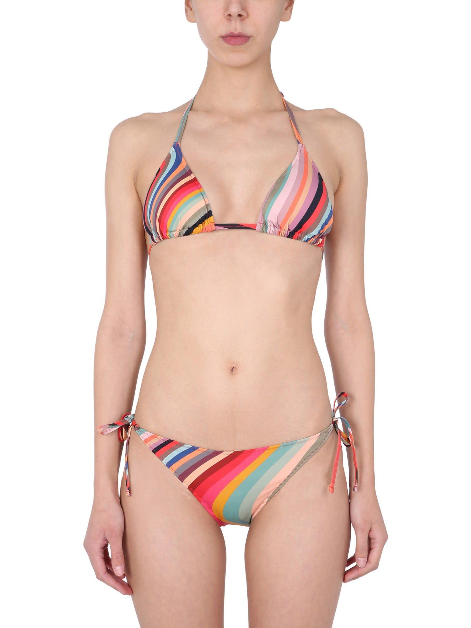 Paul Smith Bikini Briefs With Multicolour Stripes