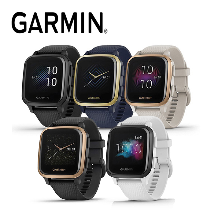 GARMIN VENU SQ Music GPS 智慧腕錶(APP)石墨玫瑰金:010-02426