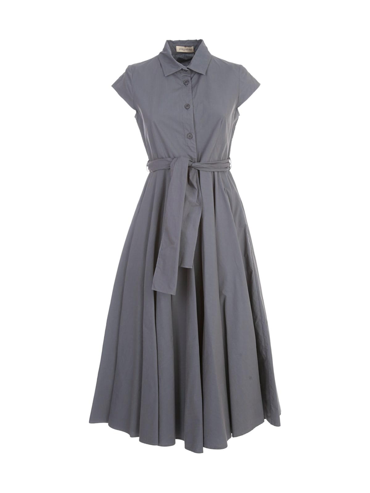 Gentry Chemisier Longuette Dress W/circle Skirt
